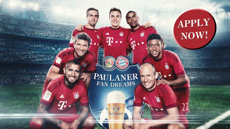 Paulaner and FC Bayern München - FAN DREAMS. APPLY NOW – for the season final of your lifetime!